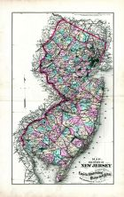 New Jersey State Map, Salem and Gloucester Counties 1876